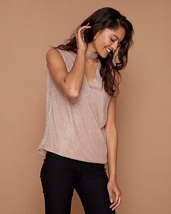 Sparkle Knit Mock Neck Top