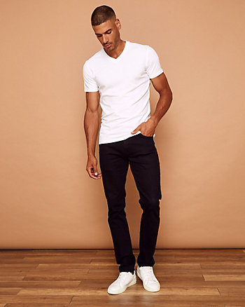 Cotton Blend Slim Leg Chino Pant