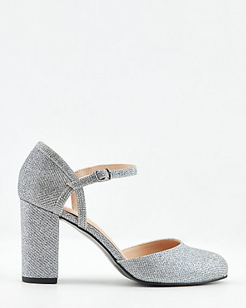 Glitter Mesh Mary Jane Pump