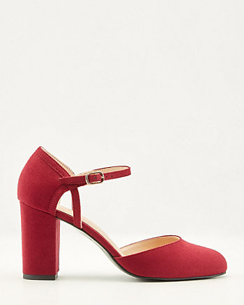 Faux Suede Mary Jane Pump
