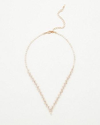 Gem Encrusted Collarbone Necklace