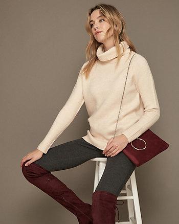 Col roulé tunique en tricot