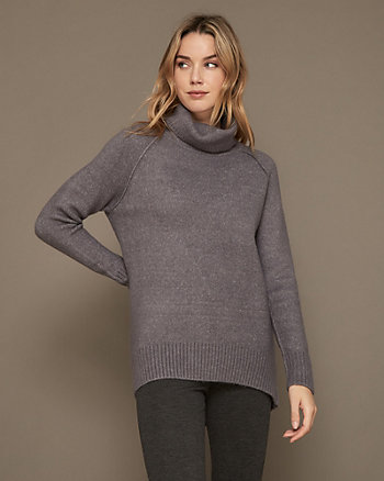 Knit Turtleneck Tunic Sweater