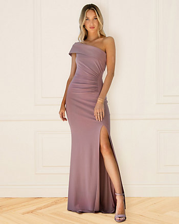 Knit One Shoulder Gown