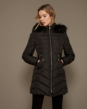 Faux Fur Hood Puffer Coat