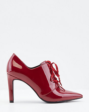 Patent Faux Leather Pointy Toe Shootie