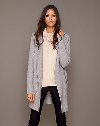 Hooded Knit Sweater Coat
