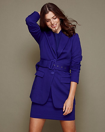 Bi-Stretch Twill Notch Collar Blazer
