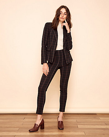 Check Print Tech Stretch Blazer