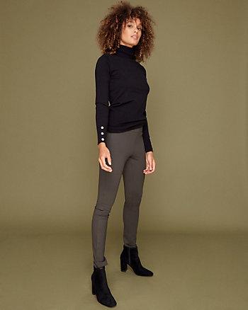 Ponte Knit Skinny Leg Pant