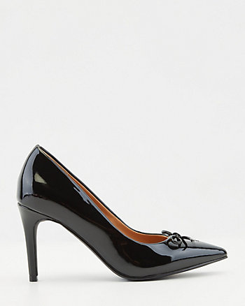 Patent Faux Leather Pointy Toe Pump