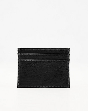 Pebbled Faux Leather Card Holder