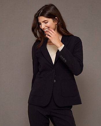 Bi-Stretch Notch Collar Blazer