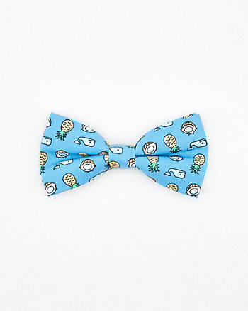 Whale, Coconut & Pineapple Print Bow Tie