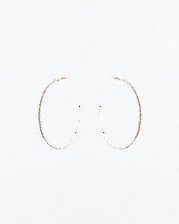 65mm Gem Hoop Earrings