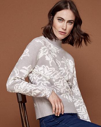 Chandail à motif floral en tricot