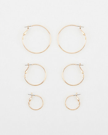 20/30/40mm Hoop Earrings Set