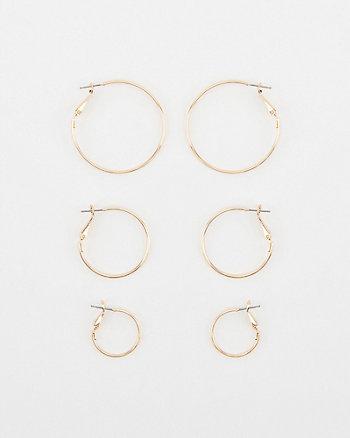 20/30/40mm Hoop Earrings Set