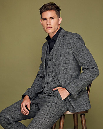 Windowpane Check City Fit Blazer
