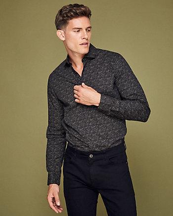 Chemise à motif abstrait en coton