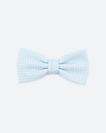 Dot Print Viscose Blend Bow Tie