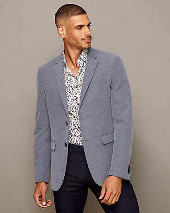 Cotton Blend Contemporary Fit Blazer