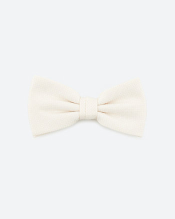 Textured Viscose Blend Bow Tie