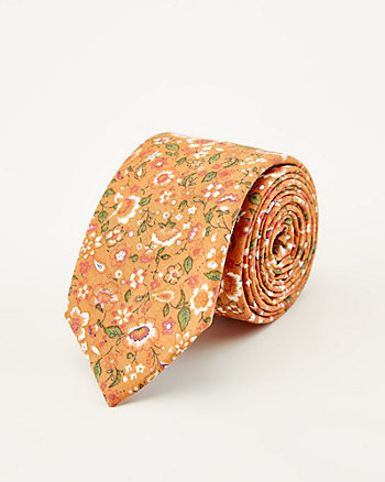 Floral Print Tie & Pocket Square Set