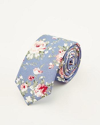 Floral Print Tie & Pocket Square Set