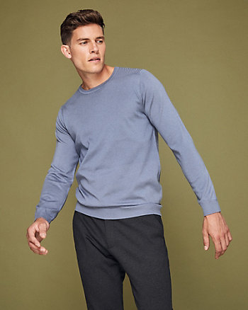 Wool Blend Crew Neck Sweater