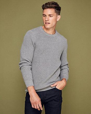 Rib Cotton Crew Neck Sweater