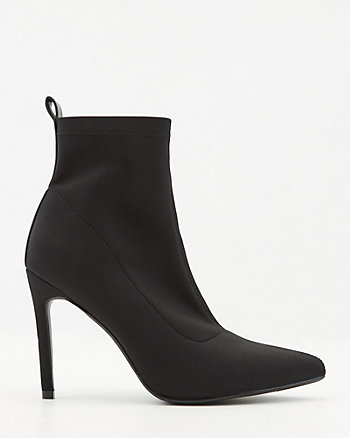 Stretch Pointy Toe Ankle Sock Boot