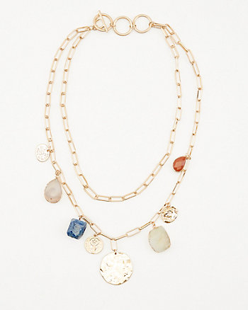 Semi-Precious Stone Multi-Strand Necklace