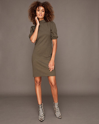 Knit Mock Neck Tunic Dress