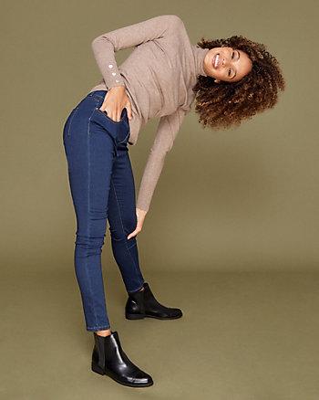 Pantalon à taille haute en denim