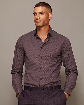 Stretch Cotton Poplin Athletic Fit Shirt