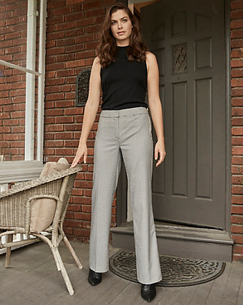 Houndstooth Flare Leg Pant