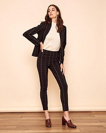 Pantalon à carreaux en tissu extensible