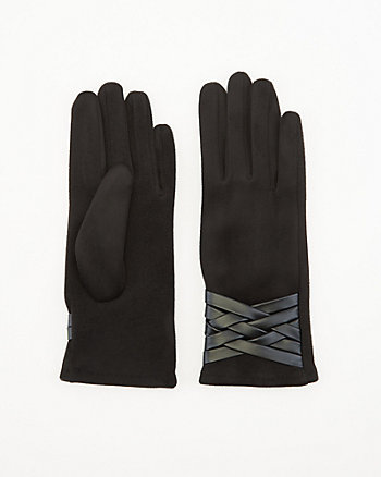Faux Suede Touchscreen Gloves