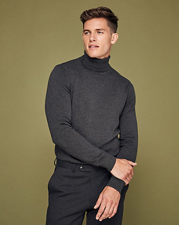 Cotton Slim Fit Turtleneck Sweater