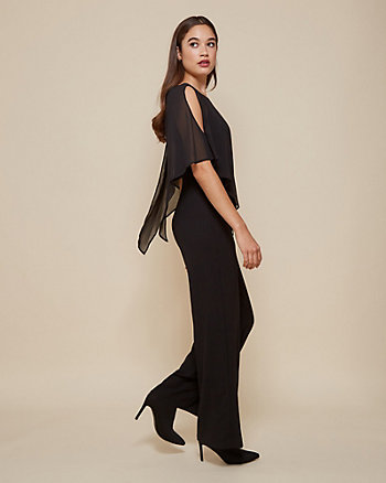 Crêpe Halter Neck Wide Leg Jumpsuit