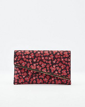 Floral Print Crossbody Clutch