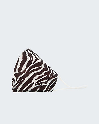 Zebra Print Reusable & Adjustable Face Mask