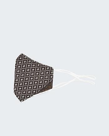 Masque réutilisable ajustable à motif géométrique