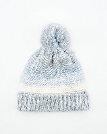 Stripe Knit Pom-Pom Beanie