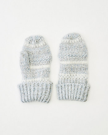 Stripe Knit Mittens