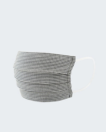 Houndstooth Print Reusable Face Mask