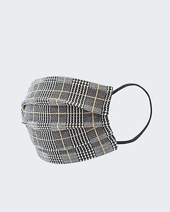 Check Print Reusable Face Mask