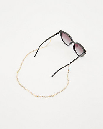 Faux Pearl Mask & Glasses Chain
