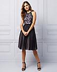 Lace & Mesh Halter Princess Dress